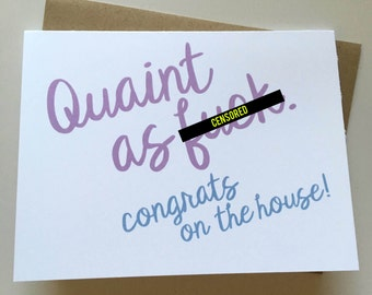 New House Card - New Home Card - Housewarming Gift - First Home Card - Congrats Card