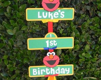 Elmo/Sesame Street Birthday Party Sign