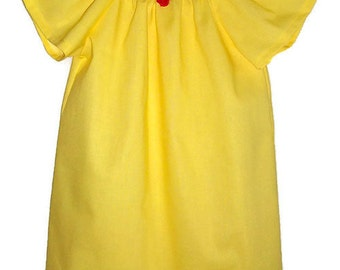 Belle Dress Belle Costume Beauty and the Beast Peasant Dress Girls Dress with Flutter Sleeves Yellow Dress Girls Dresses Princess Dress Up