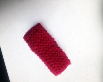 Red Knit Fabric, Hand Knit Bracelet, Knitted Red Bracelet, Minimalist jewelry. Modern jewelry, Gift