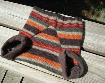 Toddler Boy's Thick, Felted Wool Shortie Soakers, Diaper Cover for Nighttime - Cornucopia 900