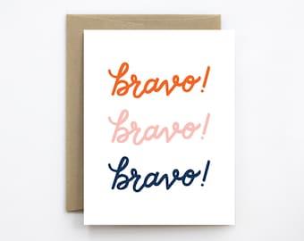 Congratulations Card - Bravo!