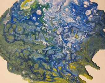 Mother Earth Original Flow Acrylic Painting