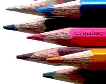 Color Pencil Photos, Still Lifes, Still Life Photos, Still Life Photography, Color Photography, Playroom Decor, Kidsroom Art, Color Pencils