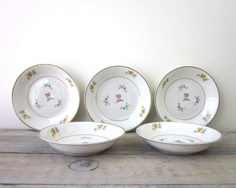 Floral China Berry Bowls Set of Five