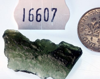 16607 Moldavite from Bohemia, Czech Republic 3.5 g