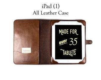 Leather iPad 1 Case, custom ipad case, ipad cover, leather iPad cover, leather tablet case, personalized tablet case, leather tablet cover