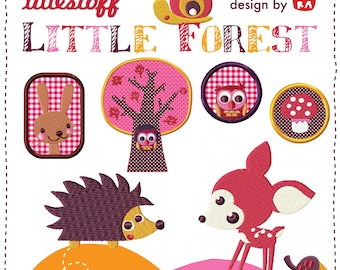 Embroidery patterns Little Forest