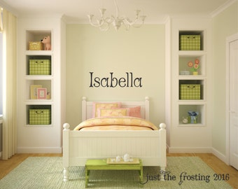 Girl Name Decal, Kids Wall Decal, Name Wall Decal, Monogram Name Decal, Nursery Wall Decal, Vinyl Lettering, Vinyl Wall Art