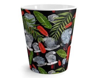 Latte Mug African Grey Parrots