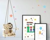 Affiche Mario & Luigi, af...