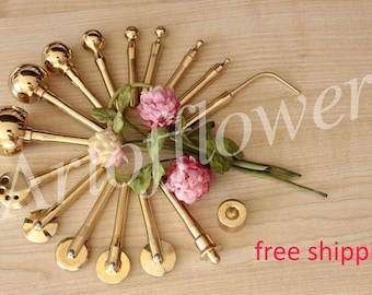 16 Fabric Flower Making Tools Millinery High Quality Brass Set incl Soldering Iron+Video 45 min+Free tutorials in English are included