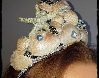 Mermaid Ornate Seashell Crown / Headdress / Ibiza / Festival / Party