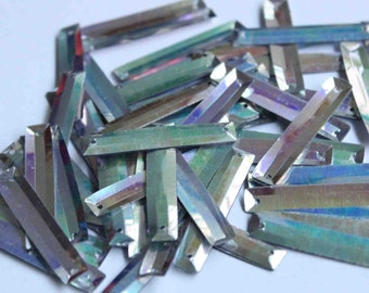 25 Rectangle Silver Sequins/KBRGS279