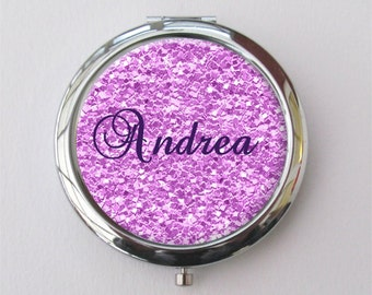 Compact Mirror, Personalized Compact, Bridal Party Gifts, Purse Mirror