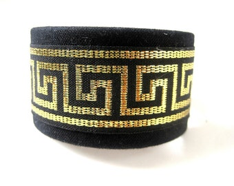 Black and Gold Ponytail Cuff