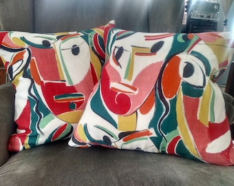 KAGURA by PIERRE FREY Linen Pillow Cover