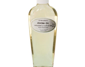 8 Oz Jojoba Oil Clear 100% Pure Refined  Cold Pressed Organic