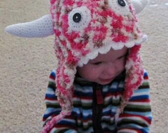 Crochet Furry Monster Hat