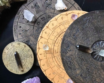 Esoteric Altar Tile, Pendulum Tile or Crystal Grid- Hand painted