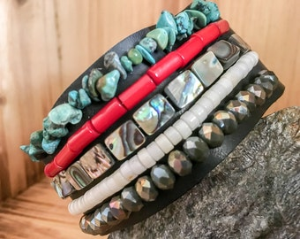 Turquoise // Coral // Abalone // Bone // Crystal // Leather