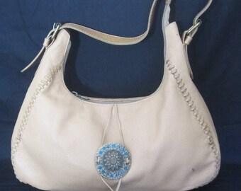 SONHO DOS PES leather vintage shoulder handbag w sun medallion