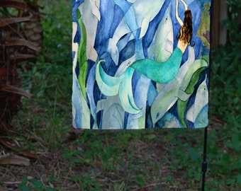Dolphin & Mermaid Party yard flag from my art. Available in 2 sizes