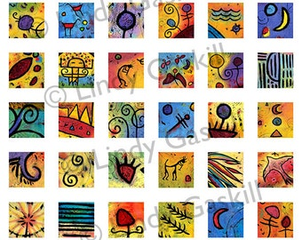 Colorful Shapes. Icons Clip Art. Decorative Symbols. Digital Collage Sheet, Download and Print. Printable Designs. Abstract Art Printable