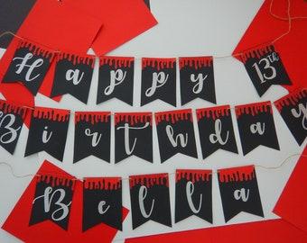 Vampire Party, vampire Birthday, vampire theme party, vampire banner,fiesta de vampiro, the vampire diaries party,The vampire diaries banner