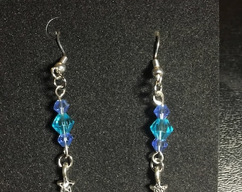 Metal Christmas Tree Dangle earrings