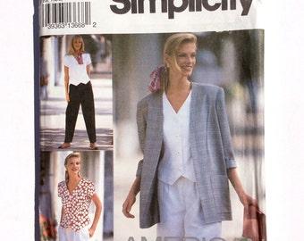 Simplicity 8239, Women's Pants, Shorts, Top, Jacket Pattern, American Classics, Vintage, Uncut Pattern, Size 12 - 16