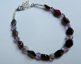amethyst and garnet bracelet