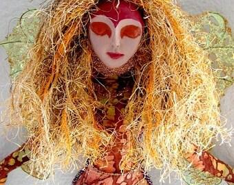 Spirit  Art Doll-Flaming Spirit  (Made by Request)