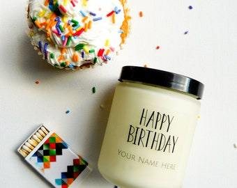 Birthday Gift for Birthday Personalized Candle Gift for Friend Happy Birthday Candle Gift Natural Soy Candle Scented Birthday Candle Gift