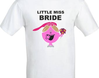 Little miss BRIDE funny humour gift full color sublimation t shirt