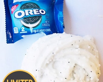 Oreo Floam Slime Scented Crunchy Clear glitter slime w/ FREE pack of OREOS & EXTRAS BlissBalm Slime Shop Store Cheap slime w/fast shipping