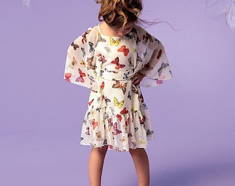 McCall's Sewing Pattern M6690 Children's/Girls' Tops, Dresses and Belt