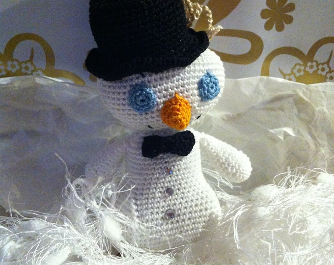 Snowman with bow tie