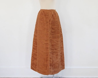 Vintage Caramel Colored Sybil Connolly Pleated Skirt