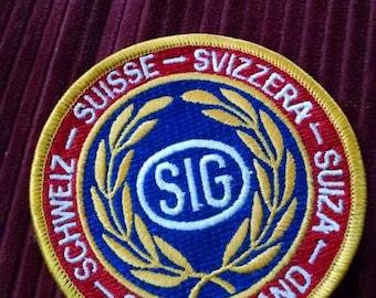 Suisse Svizzera SIG patch