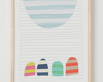 Fine Art Print.  Stripe Study Multicolored, October 22, 2017.