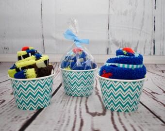 Fuzzy Socks |  Fuzzy Sock Cupcakes | Boys Fuzzy Socks | Gifts Ideas for boys | Little Boy Gifts | Boy Party Favors | Gift Ideas for Boys