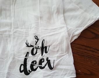 Oh Deer Tea Towel