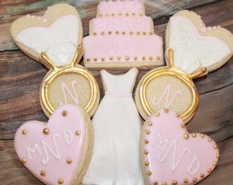 Bridal Shower / Wedding Cookie Favors 1 dozen
