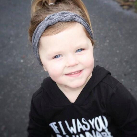 Nautical Knot Headband, Gray Headband, Baby Knot Headband, Baby Headband, Turban, Gray Headband, Celtic Knot Headband, Gray Knot Headband
