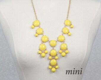 Yellow Bubble Necklace Bib Necklace Mini Version