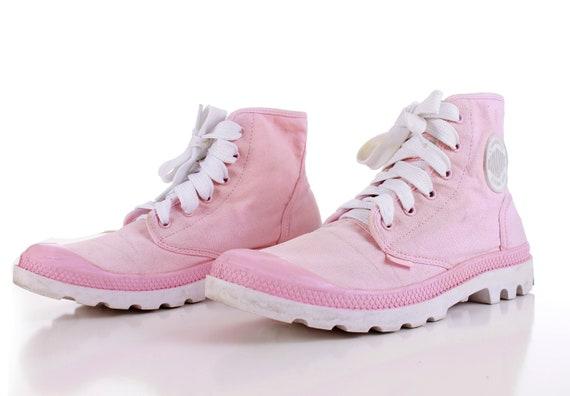 eeb155fc9e9c ... Women s 1990 s Platform Vintage Pastel White High 9 39 40 Pink 7 UK  Sneakers EUR Shoes ...