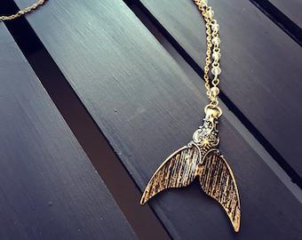 Mermaid tail charm necklace, mermaid necklace, mermaid jewelry, beach jewelry