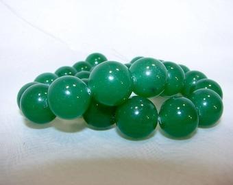 Green aventurine round 14 mm. Semi-precious stones.
