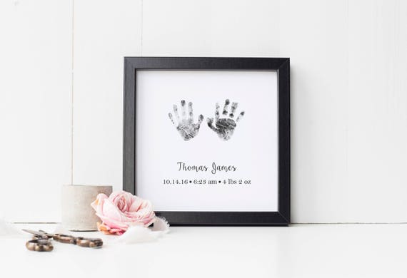 Personalized Baby Memorial Gift Print with Actual Handprints and Footprints, Infant Loss, Stillbirth, Stillborn Gift, Miscarriage Memorial